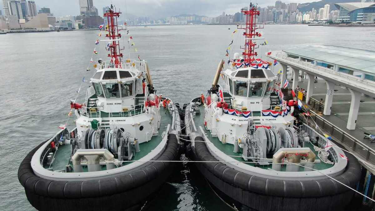 Two new tugs were named in Hong Kong