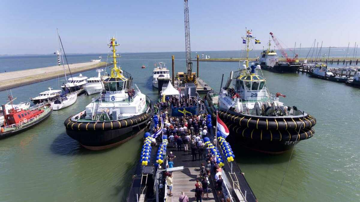 Multraship named two tugs at a ceremony in Terneuzen, the Netherlands