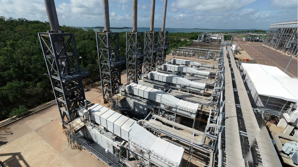 Battery power would allow one of the five gas turbines to be shutdown during LNG loading operations