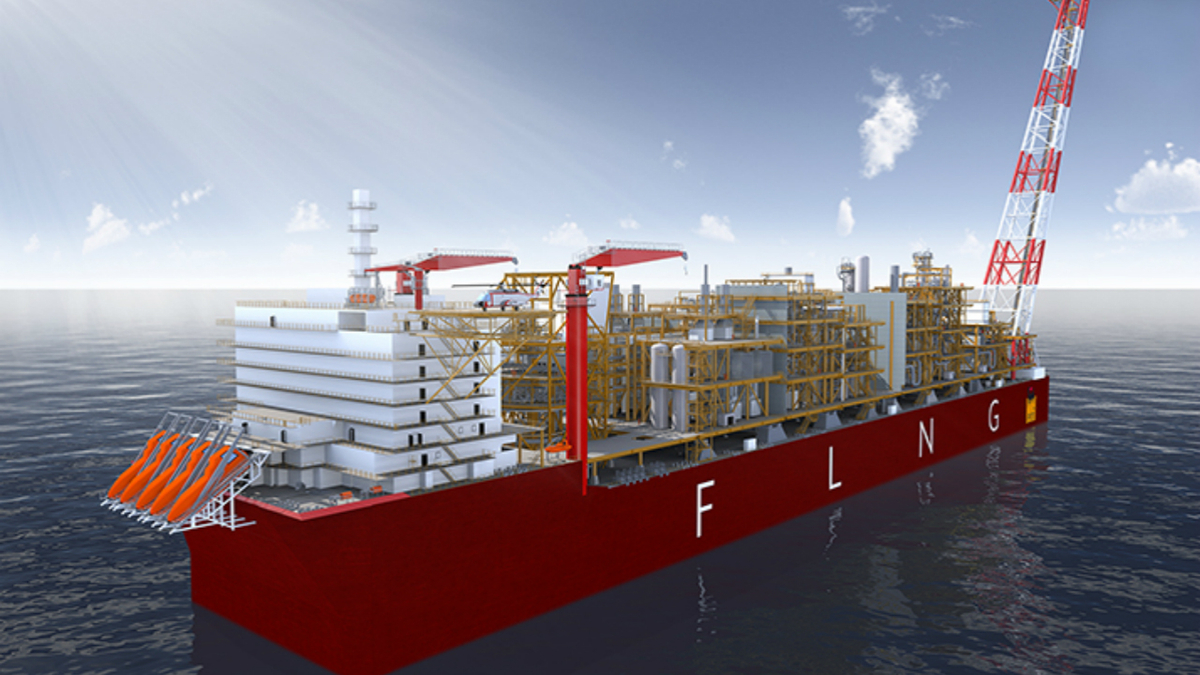 Coral Sul FLNG will be moored in 2,000 m of water off of Mozambique