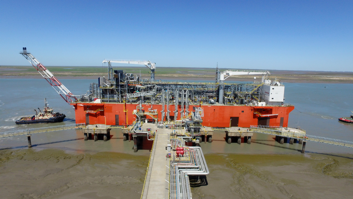 Argentina's first LNG export cargo was shipped from Tango FLNG in June (image: Exmar)