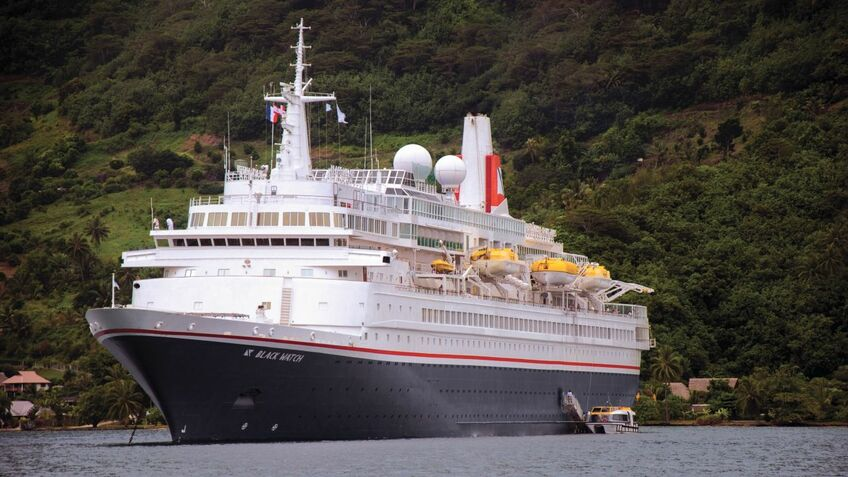 The fire on board Black Watch took two and a half hours to put out [image: Fred Olsen Cruise Lines]
