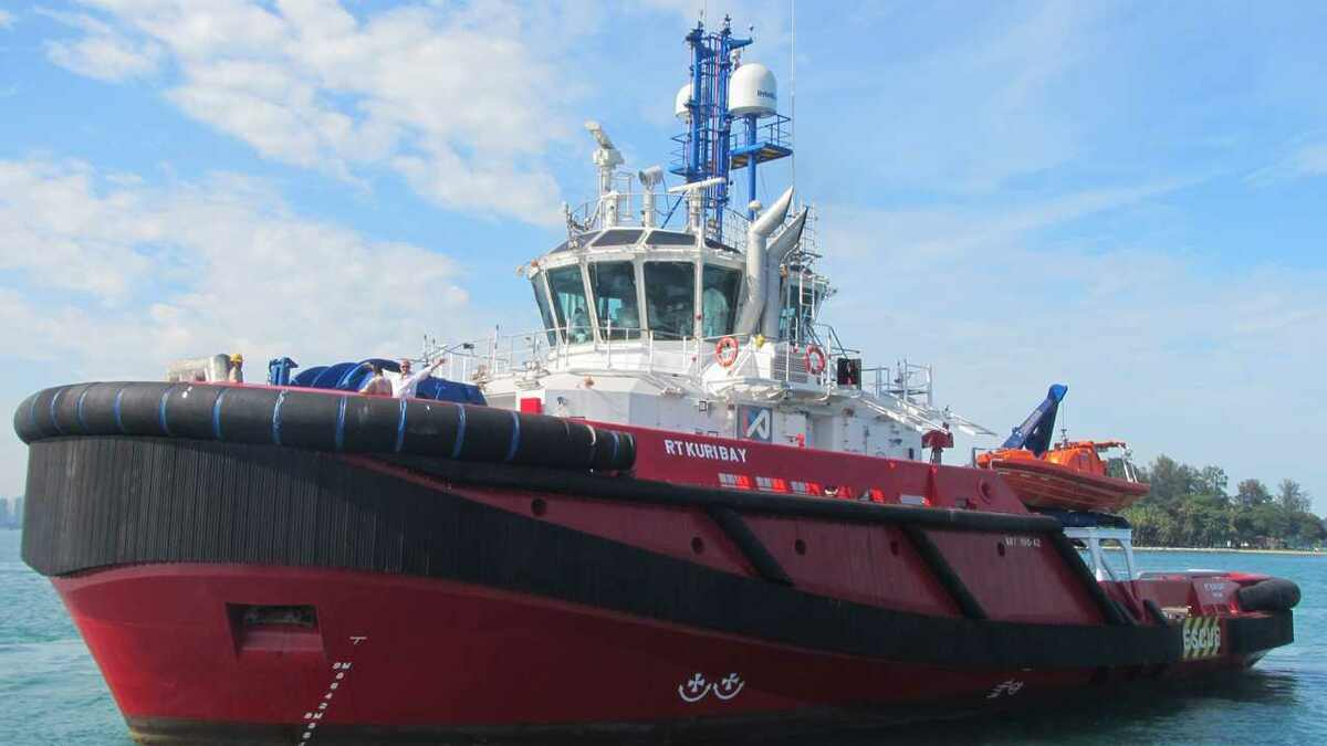 Kotugs RT Kuri Bay operating off Western Australia has Inmarsat FX connectivity