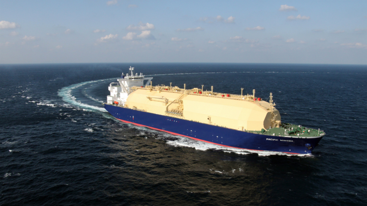 NYK's Pacific Mimosa carries LNG from Australia's Wheatstone LNG project (image: NYK)