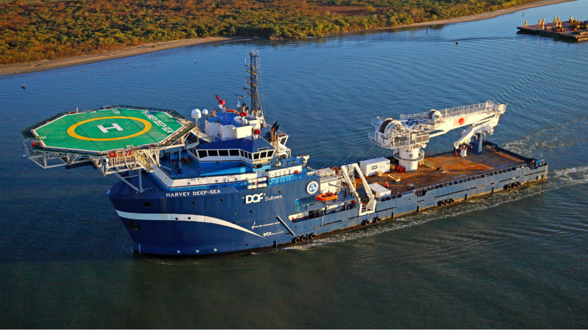 Harvey Deep-Sea can deliver 100 tonnes of cargo at a water depth of 3,000 m (image: OMSA)