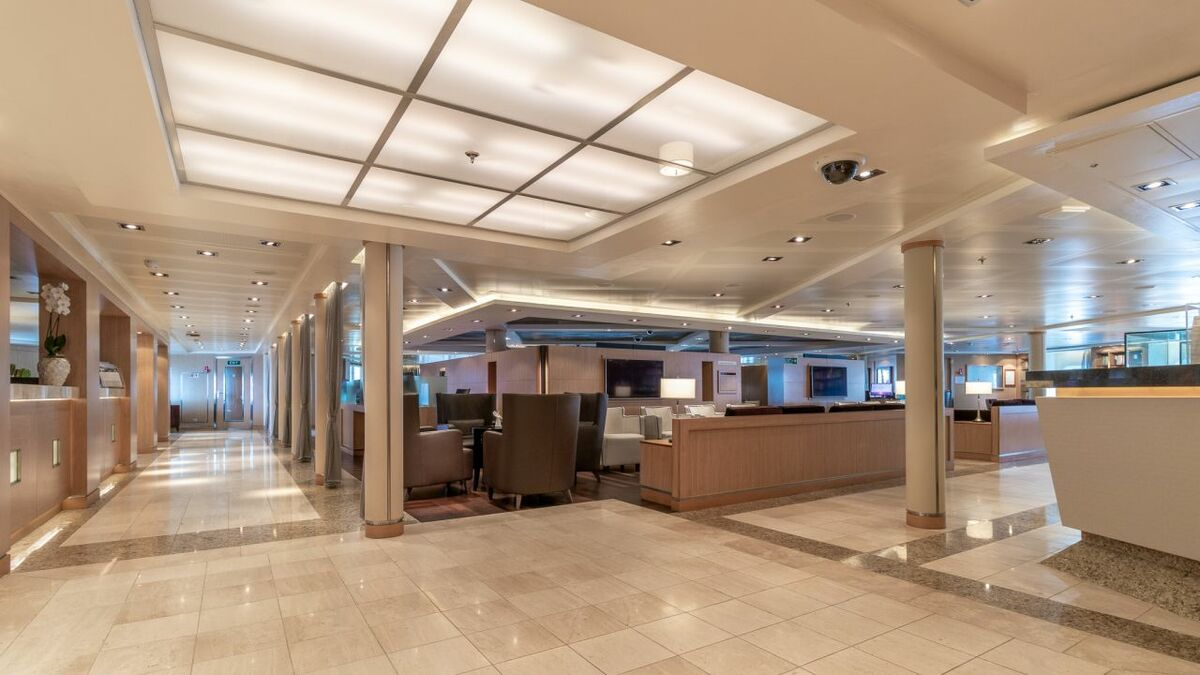 The highlight area of the Seabourn Odyssey upgrade is the Seabourn Square, a hub for the ship