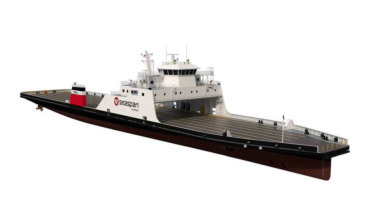 Propulsion chosen for Seaspan's battery-LNG hybrid roro ferries