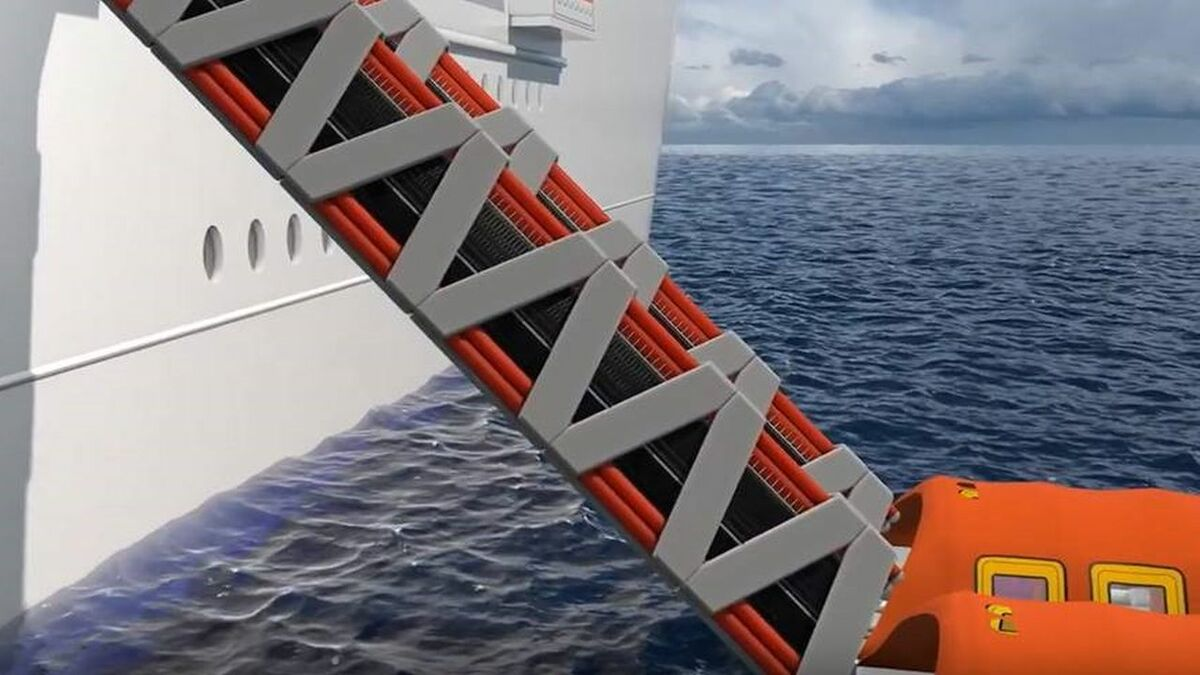 Survitec is testing its new Seahaven system that features inflatable lifeboats accessed via slides