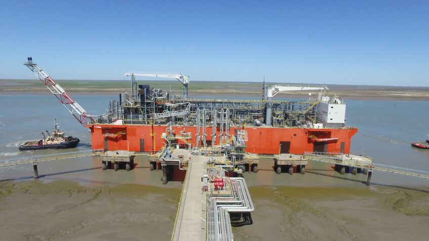 Argentina's Tango FLNG loaded its first export cargo in June (image: Black & Veatch)