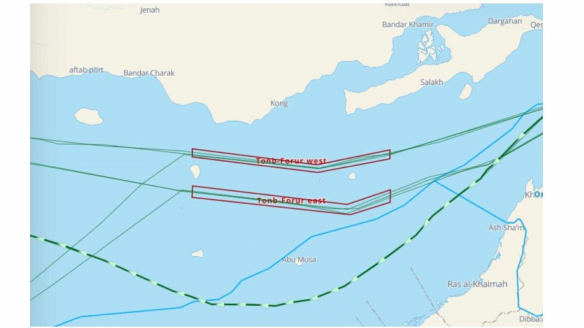 Unnamed UK-owned tanker skirts TSS in Strait of Hormuz to avoid Iranian waters