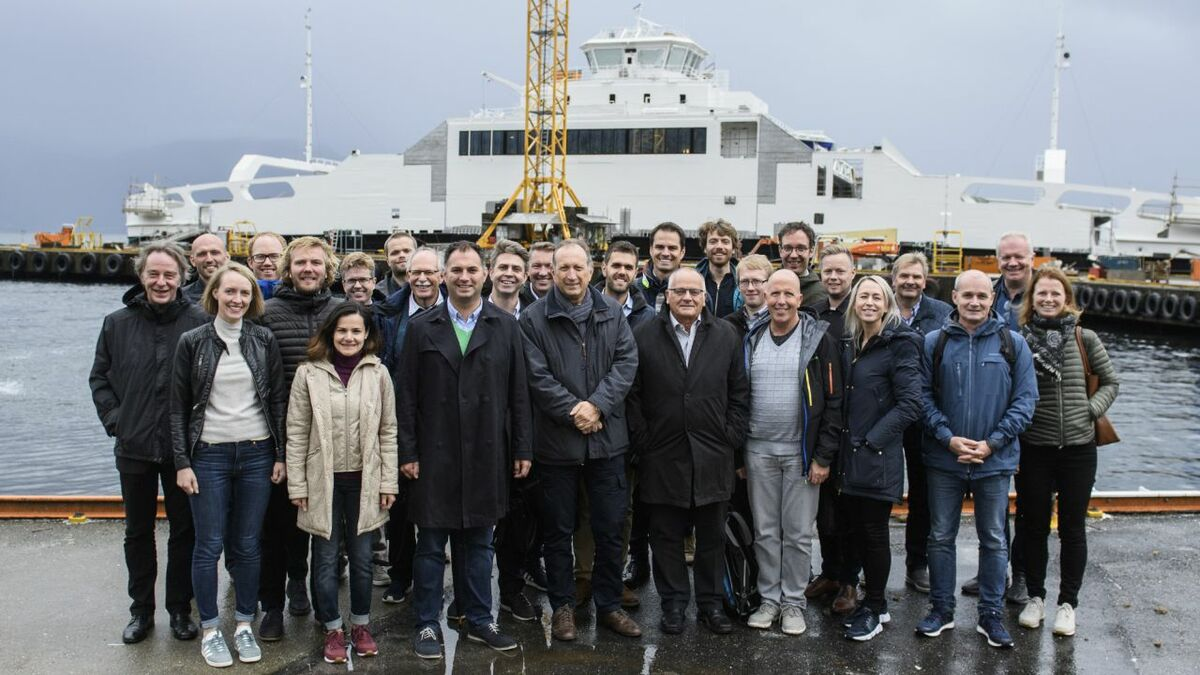 The partners involved in developing the fully electric fast ferry for Stavanger