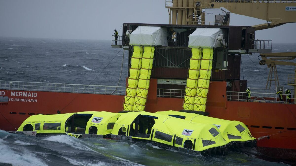 Viking's LifeCraft in its heavy weather sea trial