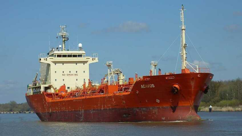 "The authors chose a ""typical ocean-going chemical tanker"" as a representative benchmark cargo ship"