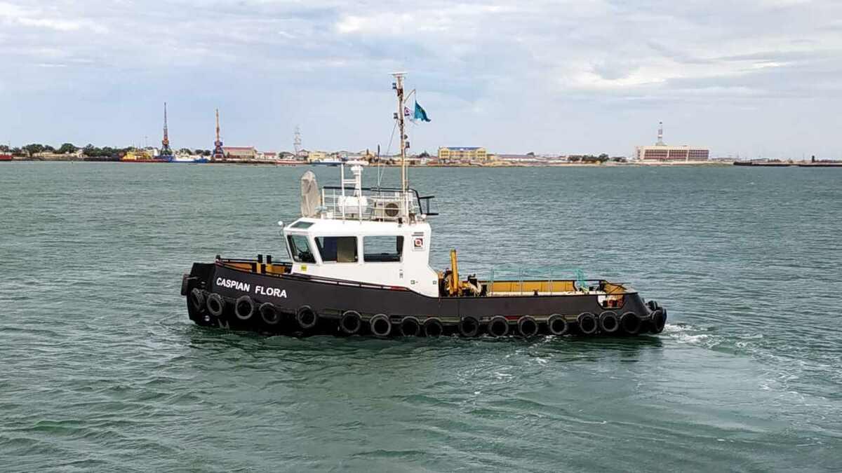 Damen supplied stan tug 1606 ICE Caspian Flora to COC in Kazakhstan