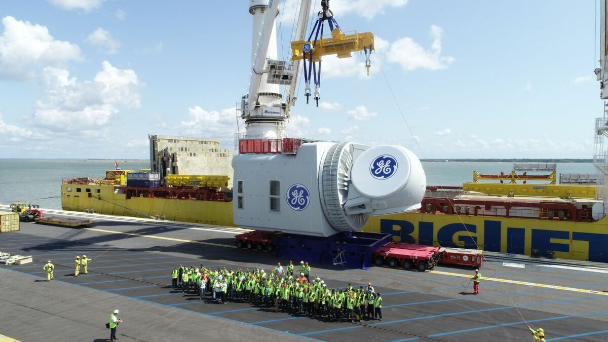 The nacelle for the Haliade-X-is on its way to Rotterdam