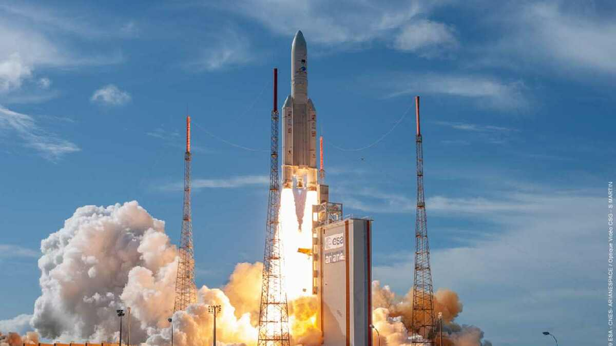 Intelsat 39 satellite is launched on Ariane 5 in French Guiana