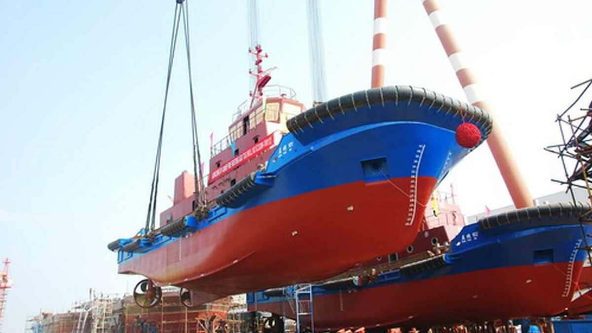 JZ Shipyard in China launches two fire-fighting ASD tugs