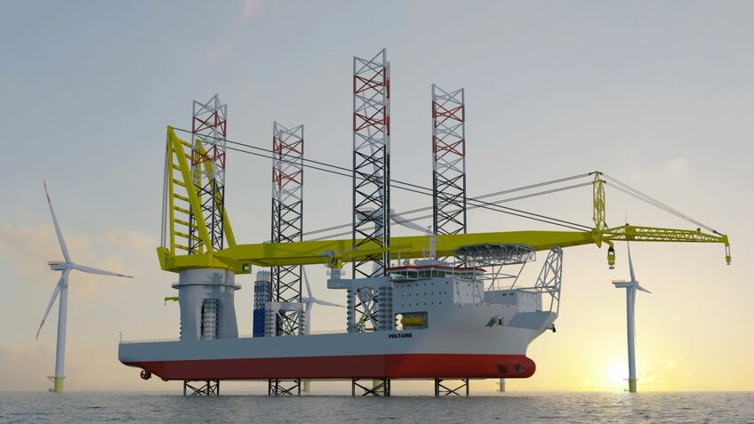 Voltaire's crane and flyjib will have the highest lifting height in the world