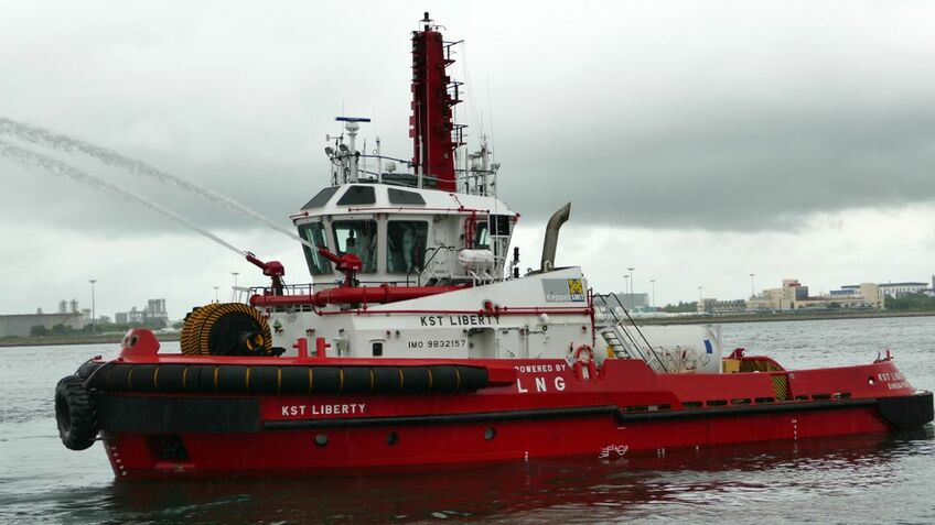 Singapore's first LNG-fuelled tug, KST Liberty, was built to ABS class