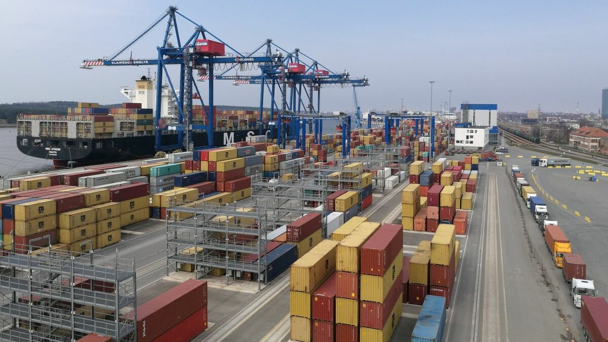 Port of Klaipeda's intra-Europe containers account for around 10-15% of its container volumes