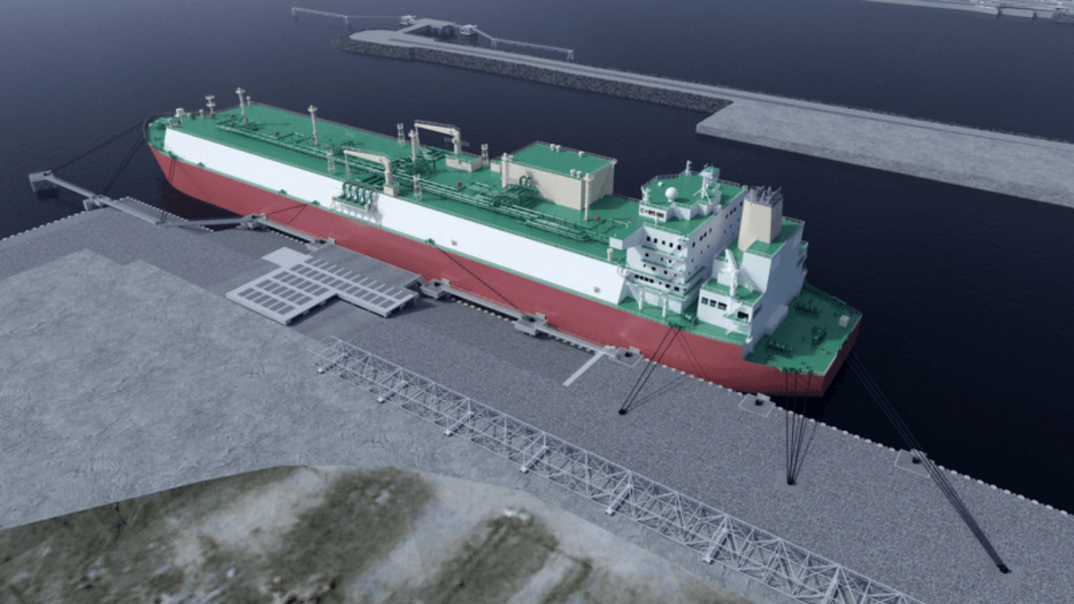 Berthing facility contract for Canadian LNG export facility