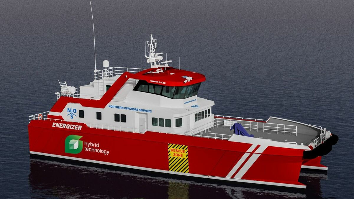 Northern Offshore Services' first E-class vessel, Energizer, is due to be delivered late 2020