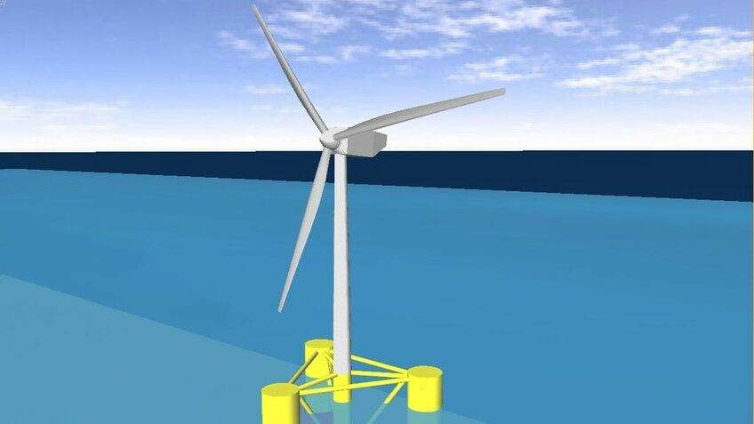 Academics are to test ways to stablise floating turbines