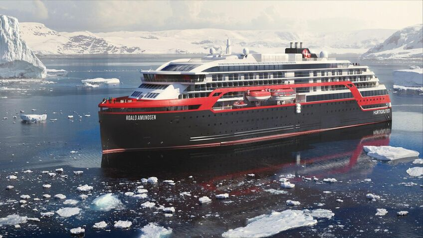 Artist impression of Roald Amundsen cruise ship (source:Hurtigruten)
