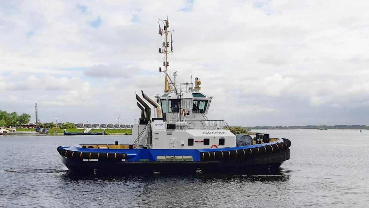 Damen tug 2411 ASD Nanda sailed from the Netherlands to Ecuador