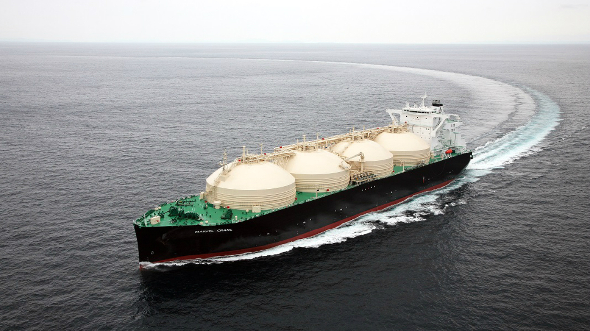 Hybrid LNG carrier nears delivery
