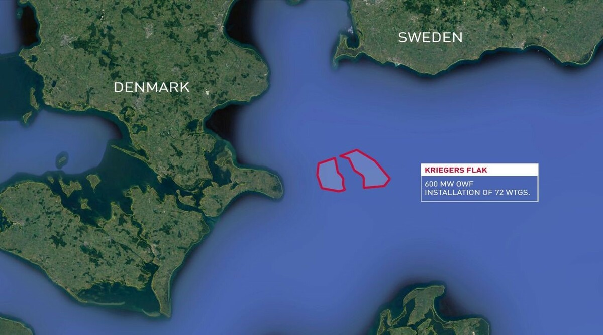 Kriegers Flak will have 72 turbines of 8.4 MW each and a capacity of 604.8 MW