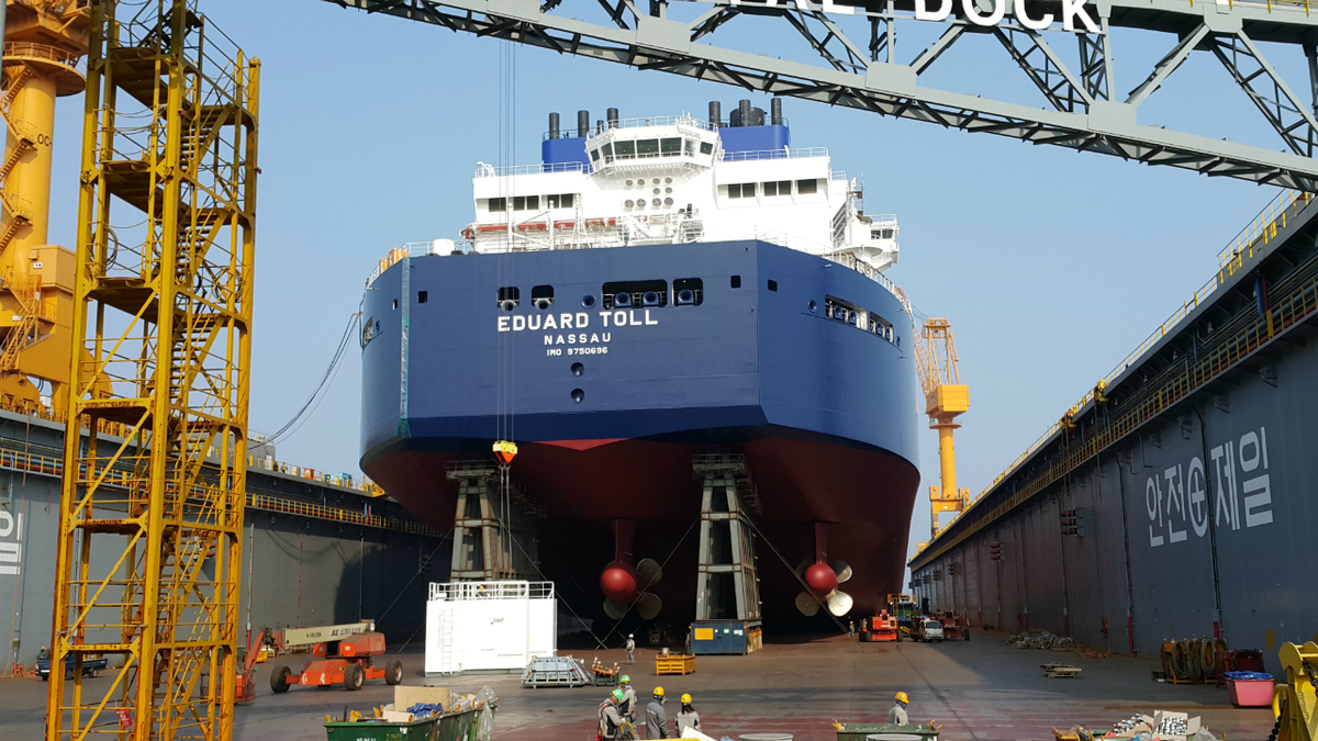 Eduard Toll was the first of six ARC 7 LNG carriers built by DSME for Teekay