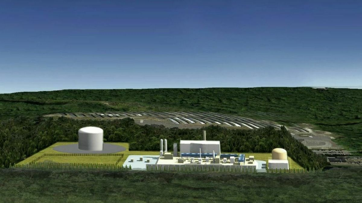 A proposed small-scale LNG plant in Charlton, Massachusetts