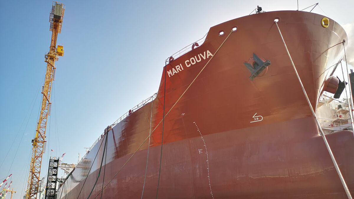 Methanol carrier Mari Couva dockside at Hyundai Mipo