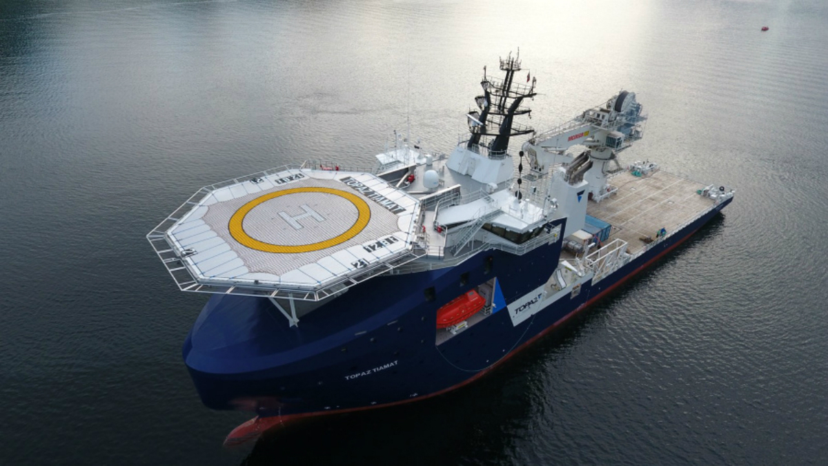 Topaz Tiamat is one of two new subsea construction vessels to join Topaz Energy's fleet this year