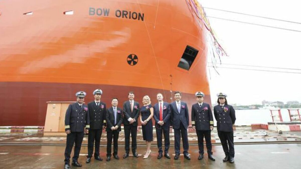 Odfjell SE chemical tanker newbuilding launch at  Hudong-Zhonghua yard in China