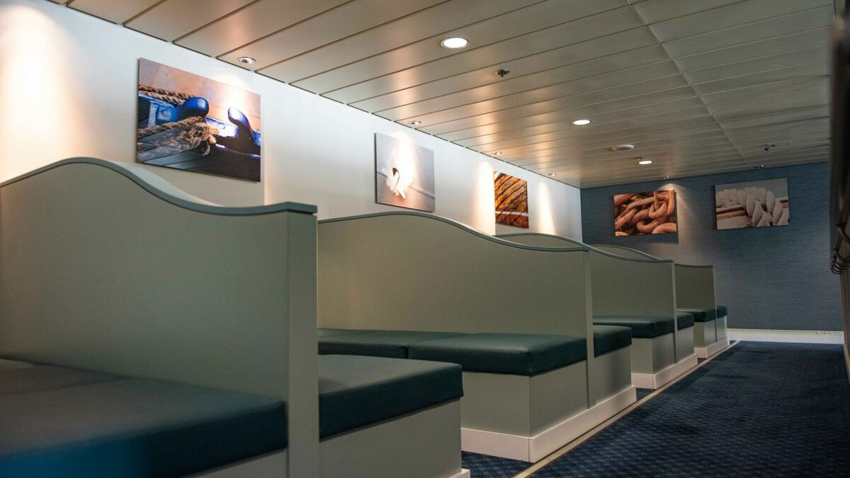 P&O Ferries has upgraded the freight drivers lounge on two ferries