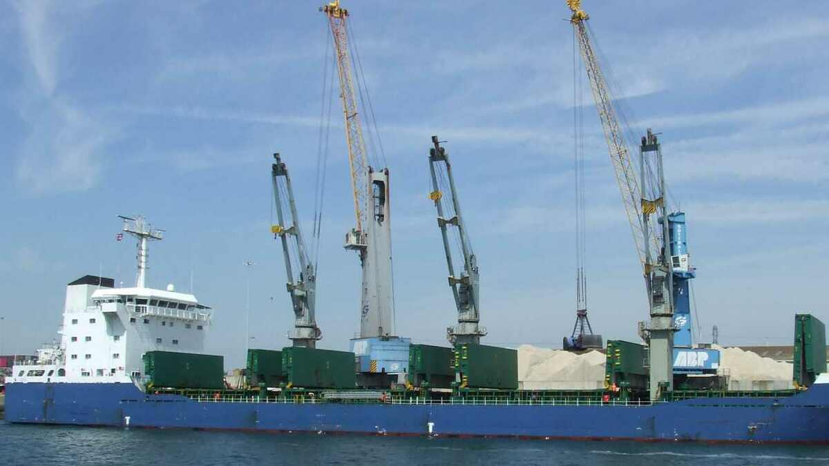 Ship is loaded in a UK port, which can access £10M infrastructure funding