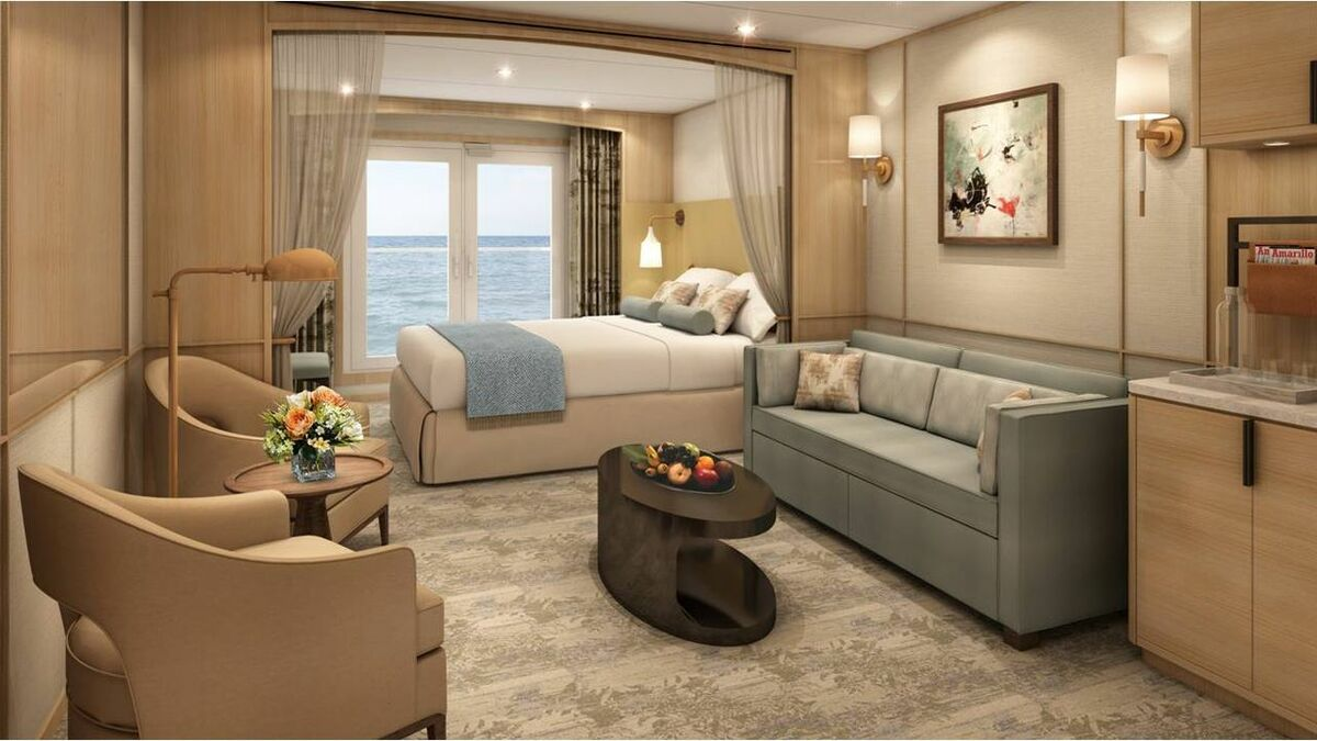 The new cabins will have the bed next to the window and the lounge at the entrance