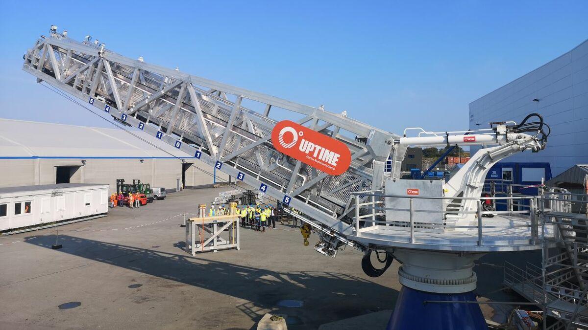 Autonomous gangway for Bernhard Schulte Offshore's new vessel