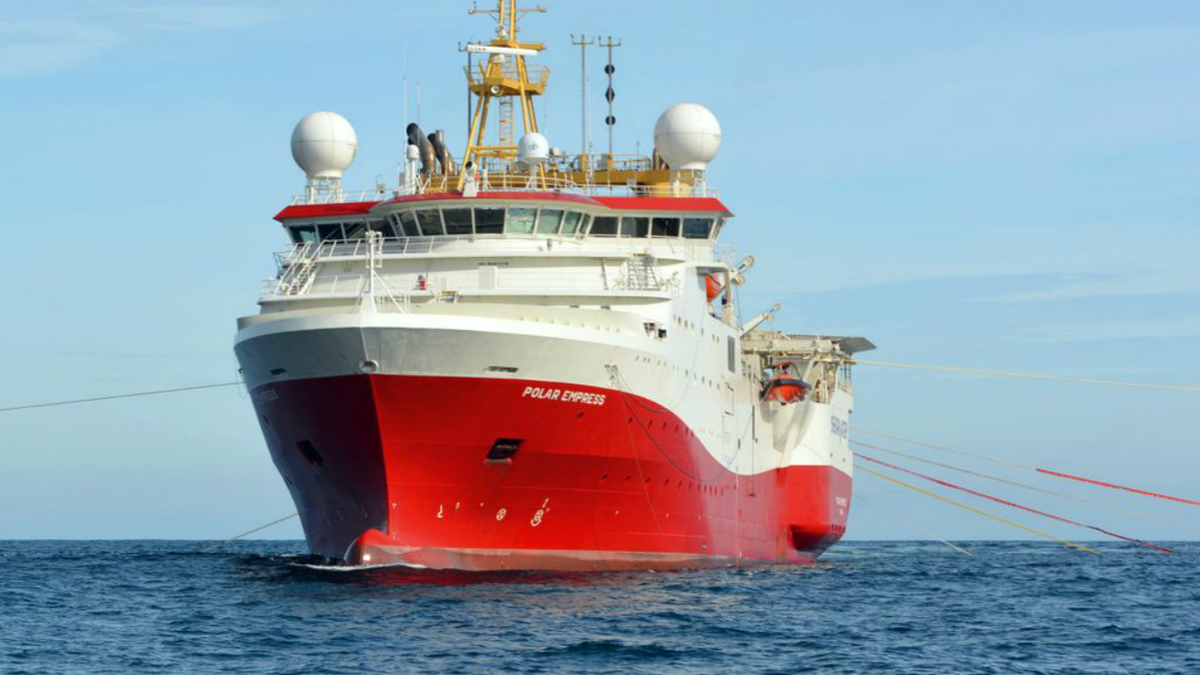 A highly advanced seismic vessel, Polar Empress has 22-streamer capability