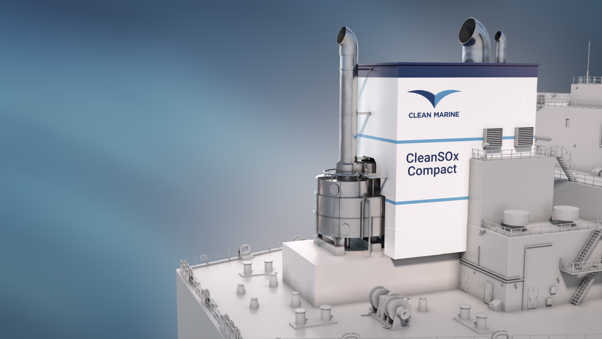 Clean Marine SOx Compact is up to two-thirds lighter than competitors' models