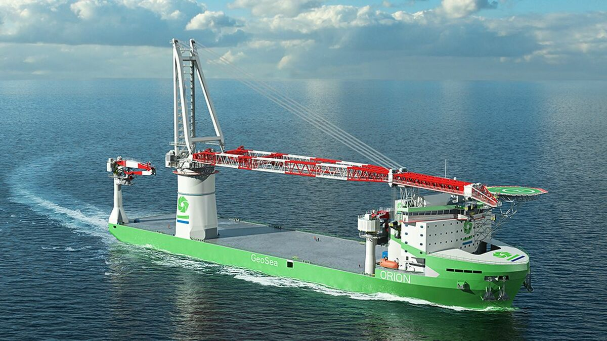 Orion is designed with a 3,000-tonne-capacity crane to handle larger wind turbines