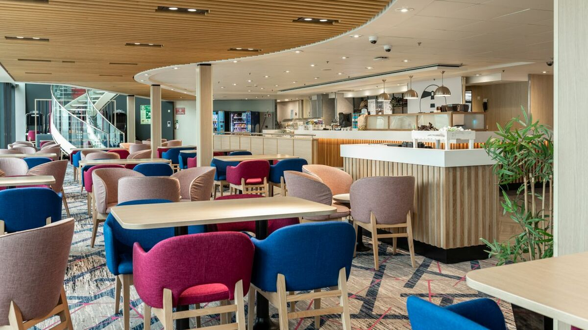 DFDS has introduced its Lighthouse Café, which is modern and has clean lines
