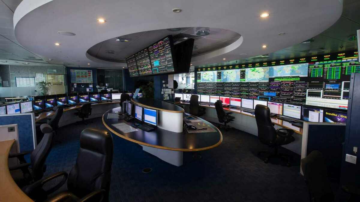Inmarsat's control room in London