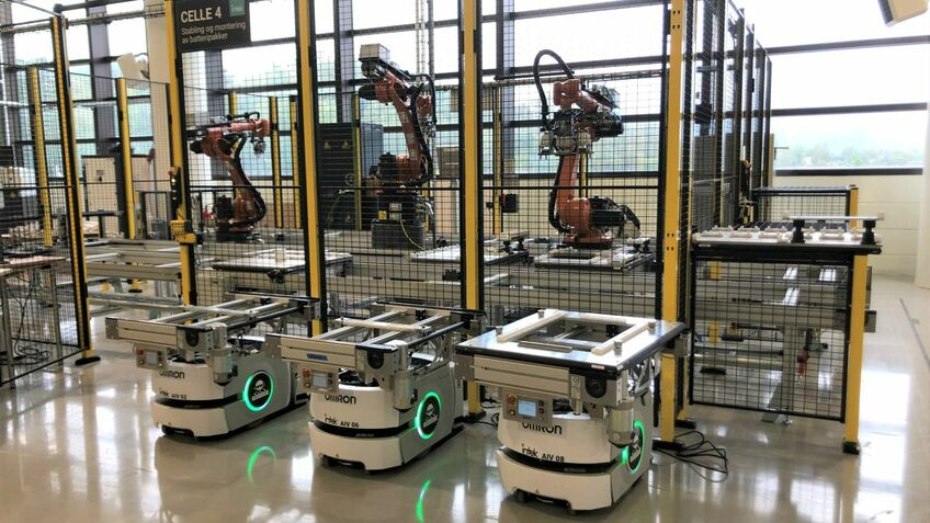 Fully automated, the Corvus battery factory will have nine robot stations