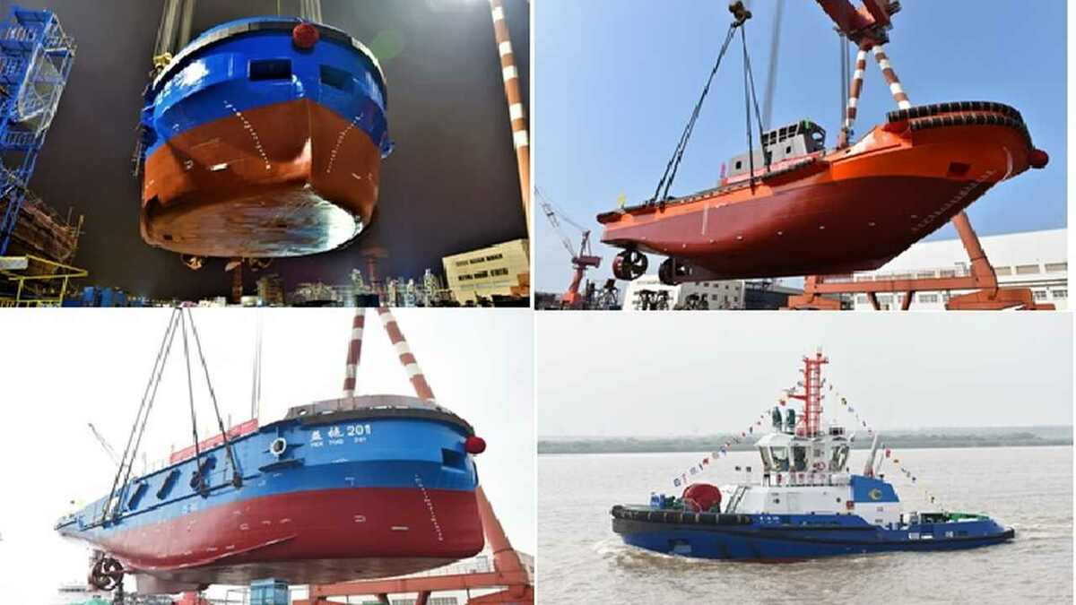 JZ Shipyard Group builds Bao Hang 6 Cao Port 28 a pusher tug and bulk vessel