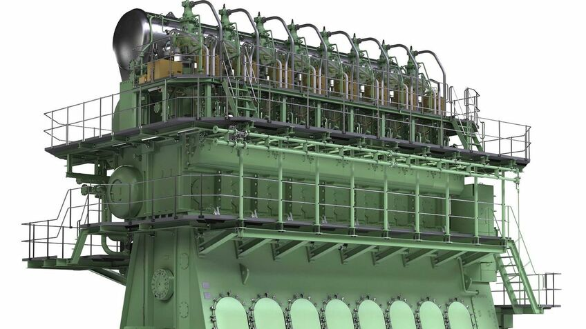 MAN's ME-GI engine uses high-pressure gas injection which is claimed to reduce methane slip