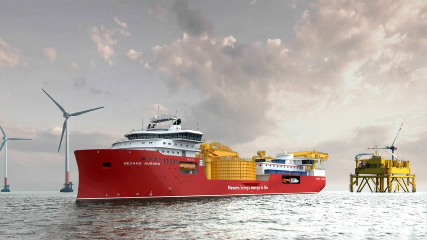 Nexans Aurora will have the capability to support windfarms nearshore or in deepwater