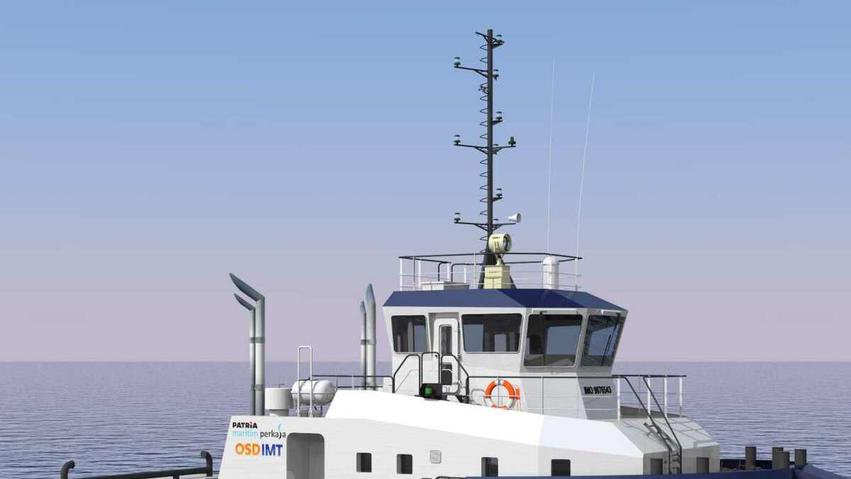OSD-IMT 7402 is the design of PT Patria's new Indonesian towboats